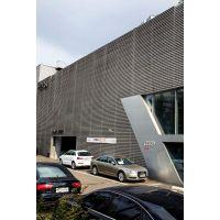 安徽合肥市一汽奥迪4S店形象店墙面原铝色铝单板精心选德普龙厂家