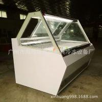 厂家直销前斜面式冰淇淋冰棒冰棍雪糕展示柜低温柜-25度