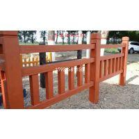 2018新款水泥仿树桩栏杆 混凝土仿木围栏 仿木护栏