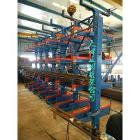 济南悬臂货架设计 伸缩式管材存放架 钢管仓库货架