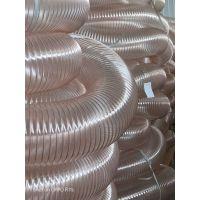 河南耐高温pu除尘钢丝波纹管图片耐磨透明钢丝伸缩管应用范围