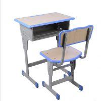 儿童学习桌辅导班补习课桌椅 可升降钢木儿童课桌椅 简约现代风格 河北厂家直销