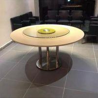 餐厅家具定做美式现代简约餐桌铁艺实木饭店餐饮店西餐厅餐桌