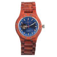 酷又帅气的男士超薄机械木头手表(斑马木/红檀木/橄榄木)