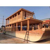 画舫船维护保养上哪里 兴化楚风出售仿古画舫船 大型游船 玻璃船