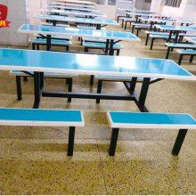 东莞康腾厂家直销各餐饮行业学校饭堂餐桌高档6人位靠背椅餐桌