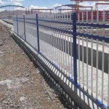 茂名物流园围墙防护栏杆安装价格 潮州学校外围三横杆镀锌围栏