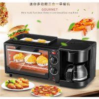 亨菱多功能家用早餐机三合一烤面包机带咖啡机功能