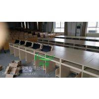 科桌K088隐藏式办公桌 机房课桌培训电脑翻转桌 单人