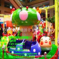 户外新型游乐设备瓢虫乐园郑州宏德加工定制旋转小火车
