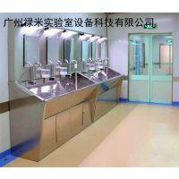 两位医用304不锈钢洗手池 无尘车间、手术室水槽感应/脚踏 洗手盆 禄米实验室