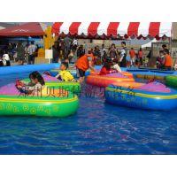 山东菏泽大型的充气水池里面放多少亲子儿童手摇船
