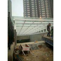 陕西车库玻璃雨棚安装施工