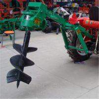 大力度螺旋四轮挖坑机 40公分直径打坑机 山坡种树打眼机型号
