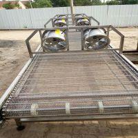乾德供应网带输送机冷却散温不锈钢输送机肉食加工网带厂家