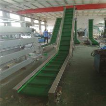 食品爬坡传送机 自动化设备 裙边挡板PVC传送机 料斗食品颗粒运输机提升机爬坡机 德隆非标定制