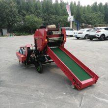 实用新型青储饲料打包机视频 内蒙古销售圣泰养殖用面包草机