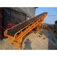 天津粮站玉米倒运输送机 带轮可移动的皮带机 定做刮板皮带输送机