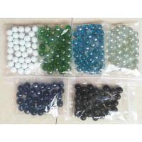 兴胜直销纯色玻璃珠 化工研磨 水族造景圆珠游戏弹珠机专用玻璃珠