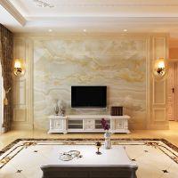 朱居家通体岗石护墙板电视瓷砖背景墙仿大理石罗马柱边框