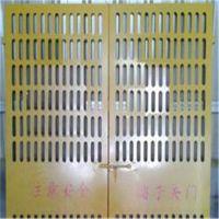 专业生产铁丝网电梯防护门,钢板网电梯防护门、冲孔网电梯防护门