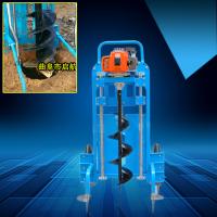 电子眼埋桩打坑机 启航双人操作大马力植树钻窝机 光伏发电桩安装挖穴机价格