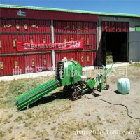 全自动青储包膜机 牧草打捆包膜机价格 青储打捆包膜机报价
