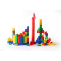 【未来玩具先生】儿童教育玩具 桶装塑料双拼接头拼插积木RD1005建构积木