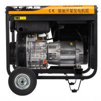 上海汉萨动力可移动五千瓦单相手启动柴油发电机