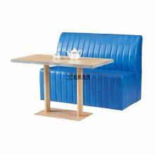 汉堡店沙发桌子组合,重庆汉堡店简约皮制沙发桌子定制
