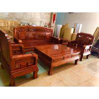 北京红木家具客厅国色天香沙发6件套刺猬紫檀名琢世家