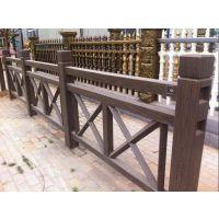 云南X型仿木栏杆塑料模具水泥栏杆模具可加工定制