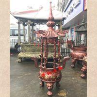温州禅相法器供应吉林圆形香炉、长春寺院烧香炉。