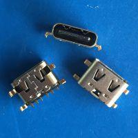 TYPE C6P沉板母座 四脚沉板0.88 前插后贴DIP+SMT USB 3.1 6P沉板插件