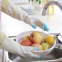 1817 家务清洁洗衣手套洗碗橡胶 乳胶家用手套防水乳胶手套