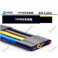 10芯行车线 高柔扁平随行电缆 抗拉 带钢丝10芯行车用柔软电缆线YFFBG/RVV1G