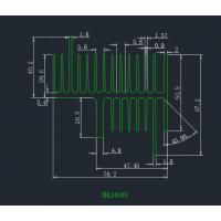 厂家直销生产工业专业6061 6063铝型材散热片 欢迎来样来图开模定制