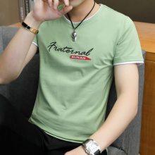 纯棉男装短袖T恤批发厂家货源 时尚韩版男士半袖小衫批发