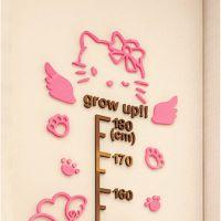 helloKitty身高贴卡通儿童房幼儿园宝宝测量身高尺3d亚克力墙贴