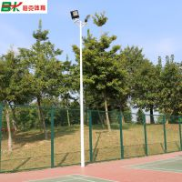 贵州6米球场灯杆批发/LED200W球场灯具配套,篮球场灯杆安装