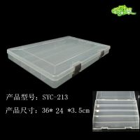 厂家直销大号5格透明塑料盒电子元件五金配件工具耗材包装收纳盒