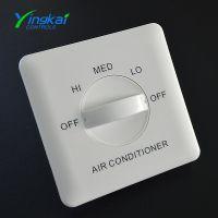室内中央空调控制面板 郢凯86型三档调速开关面板生产厂家