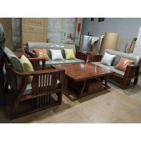 红木家具刺猬紫檀新中式典雅沙发价格图片大全