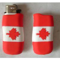 创意PVC国旗打火机保护套,防滑打火机外壳保护套