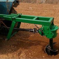 冻土专用挖坑机 线杆钻孔机 轮式四冲程大马力汽油挖坑机