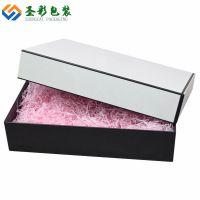 广州厂家定制精美服饰盒 鞋盒 围巾内衣包装盒 白色天地盖礼品盒