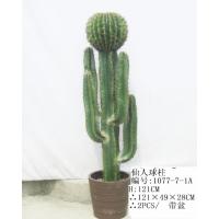 东莞鸿景厂家直销仿真塑胶热带植物仙人球柱 热带景观装饰