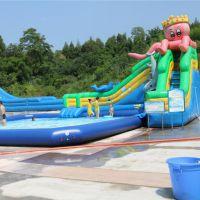 大型水上乐园充气水上滑梯 水滑梯高质量底成本 水乐园水滑梯厂家直营可定制