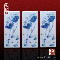 青花瓷片厂家定做 景德镇陶瓷定制家具瓷板画