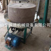 新型荞麦面粉机组 振德定做 五谷杂粮面粉石磨机 半自动石磨机